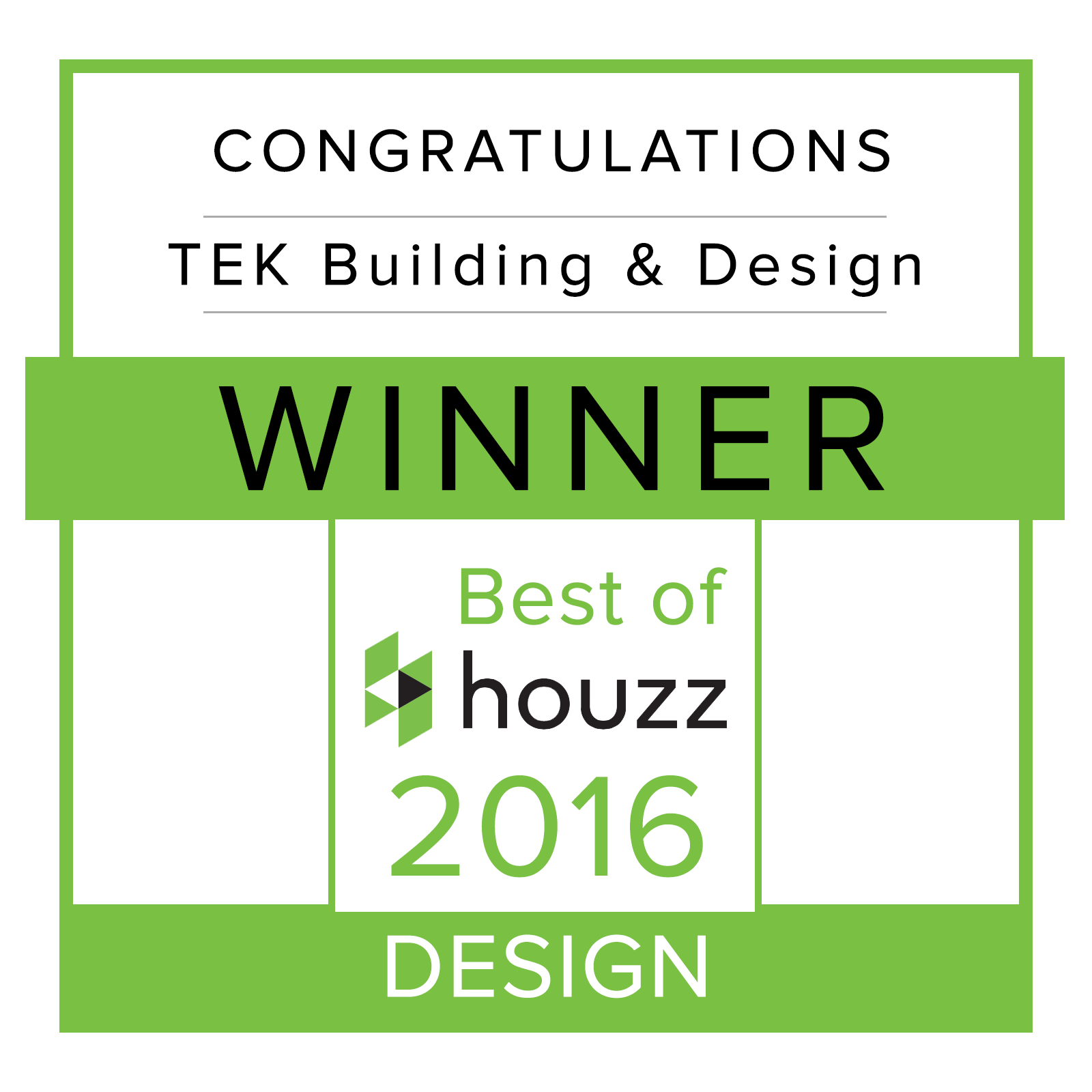 Winner Best of Houzz 2016 Design