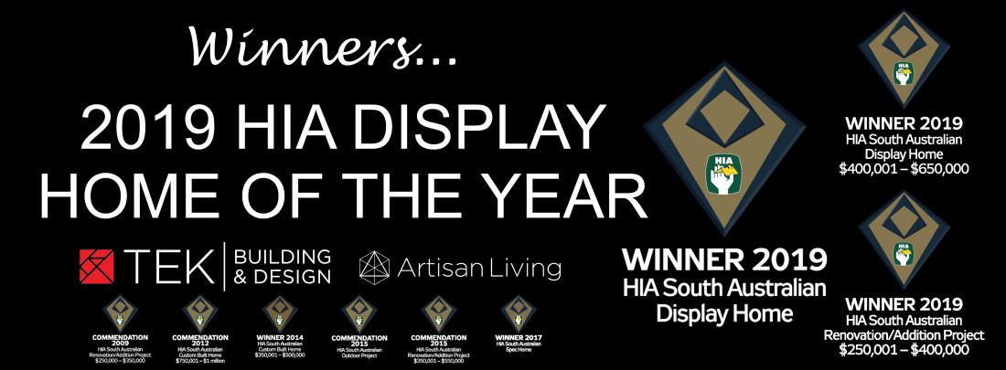 Winners 2019 HIA Display Home of the year